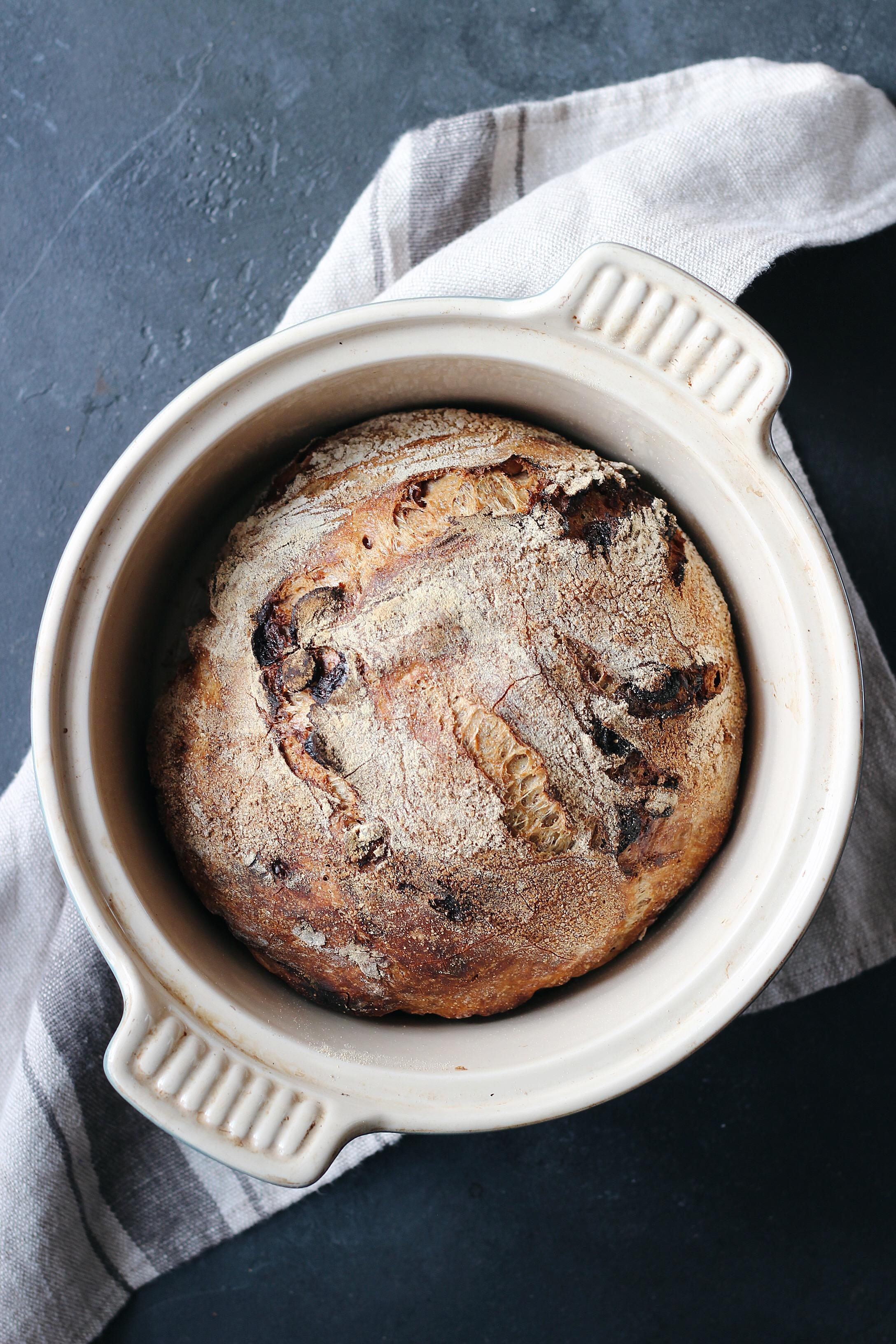 Crusty No Knead Cranberry Walnut Bread French Pressed Kitchen